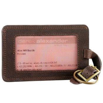 DEREK ALEXANDER LUGGAGE ID (OIL TAN COWHIDE) SA210 BROWN