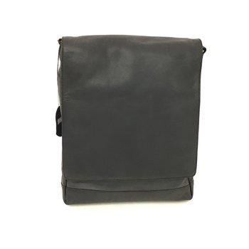 DEREK ALEXANDER NS 3/4 FLAP UNISEX MESSENGER BAG PB8120 BLACK (DR)