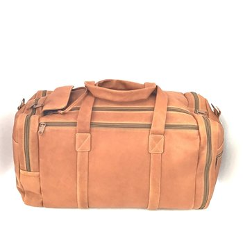 DEREK ALEXANDER SPORTS DUFFLE FULLY OUTFITTED PB9706 TAN (DR)