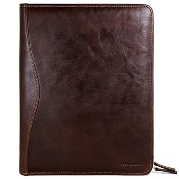 Jack Georges VOYAGER LETTER SIZE ZIPPERED WRITING PAD COVER (7112) BROWN