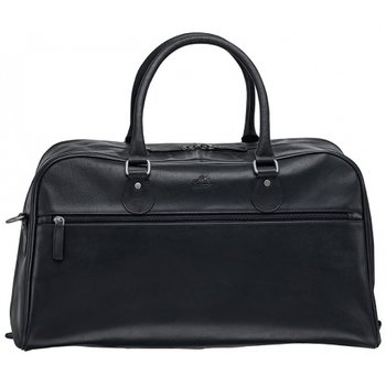 """MANCINI 20"""" LEATHER CARRY ON BLACK (99-5474)"""