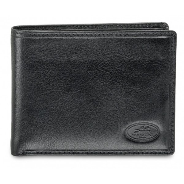 MANCINI MEN'S BILLFOLD WITH REMOVABLE PASSCASE AND COIN POCKET, BLACK (52955)
