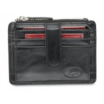 MANCINI MEN'S RFID CARD CASE AND COIN POCKET BLACK