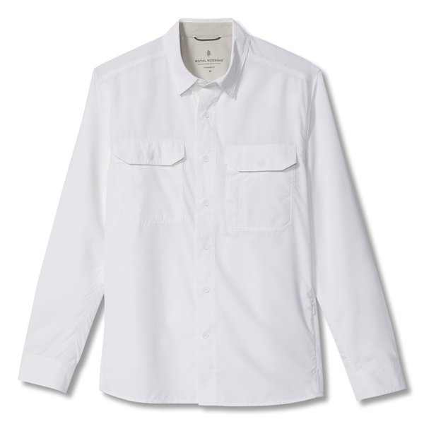 ROYAL ROBBINS GLOBAL EXPEDITION WHITE  L/S  (Y422015)