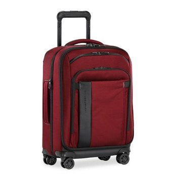 """BRIGGS & RILEY ZDX 21"""" CARRY-ON EXPANDABLE SPINNER, BRICK RED (ZXU121SPX-69)"""