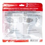 SWISS MOBILITY WASHABLE COTTON FACE MASKS 2PK WITH 1FILTER NEW (TAC1139SM ROYAL)