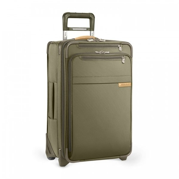 """BRIGGS & RILEY BASELINE EXPANDABLE 22"""" CARRY-ON (U122CX) OLIVE"""