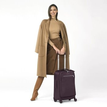 BRIGGS & RILEY WOMEN'S TALL CARRY-ON SPINNER (PU122SP) PLUM