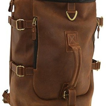 MOSAIC RUSTICO CONVERTABLE DUFFEL-BACKPACK, BROWN(773-1612-BN)