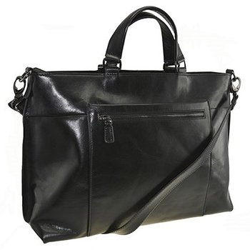MOSAIC LADIES LEATHER BUSINESS TOTE, BLACK (667-721605)