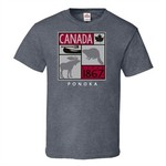 STONE AGE CANADA ICONS TEE, CHARCOAL HEATHER