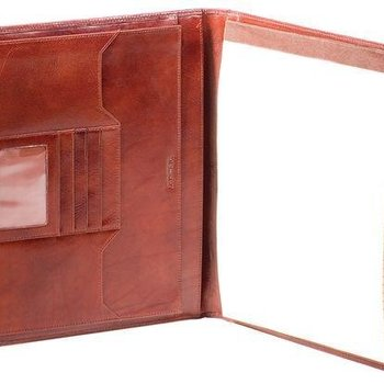 OSGOODE MARLEY SIENNA DELUXE FILE LEATHER PAD, BROWN (14831)