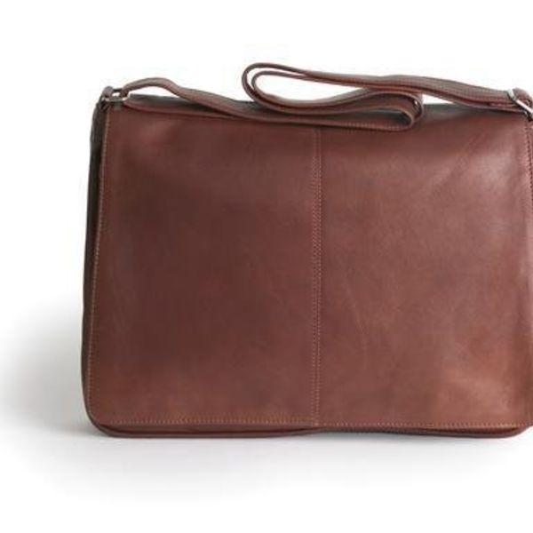 OSGOODE MARLEY LEATHER MESSENGER BAG, ESPRESSO (6008E)