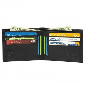 TRAVELON RFID BILLFOLD WALLET, BLACK (82025)
