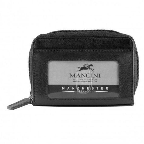 MANCINI RFID ACCORDIAN CREDIT CARD CASE / CHANGE POCKET/BELT LOOP (2010115)