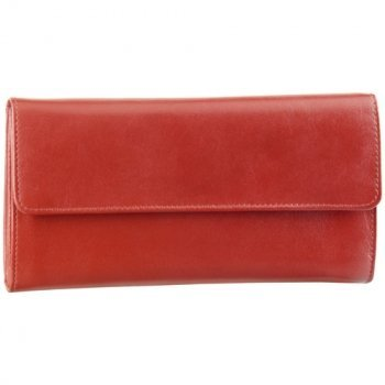 DEREK ALEXANDER LADIES 3 PART CLUTCH, CHECK BOOK, RED (BR-1305)