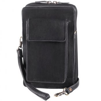 DEREK ALEXANDER N/S LEATHER ORGANIZER, BLACK (DR-8010)
