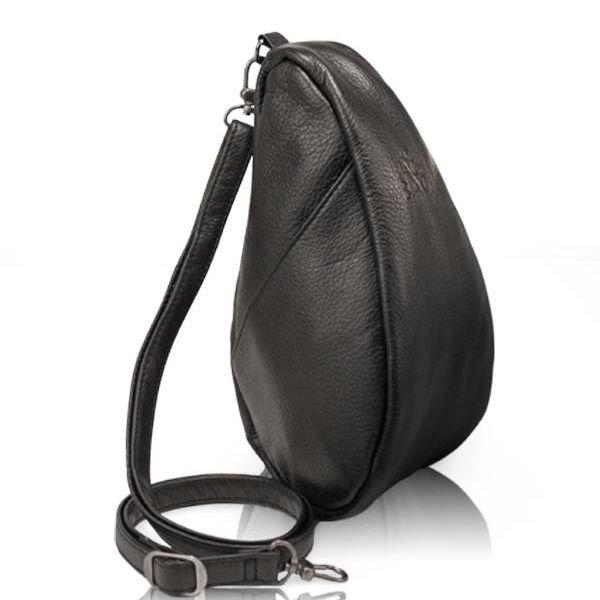 AMERIBAG LARGE BAGLETT LEATHER HEALTHY BACK BAG, BLACK (5100LG-BK)