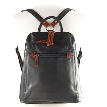 OSGOODE MARLEY SLIM LEATHER BACKPACK, STORM BLACK (7107)