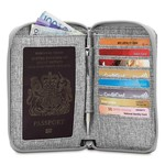 PACSAFE RFIDSAFE LX150 ZIPPERED PASSPORT WALLET
