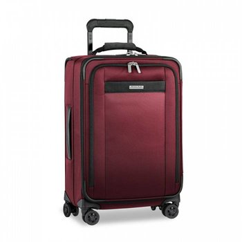 BRIGGS & RILEY TRANSCEND TALL DOMESTIC CARRY-ON SPINNER, MERLOT (TU422VXSP-46)