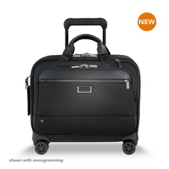 BRIGGS & RILEY @WORK MEDIUM SPINNER BRIEF, BLACK (KR420SP-4)