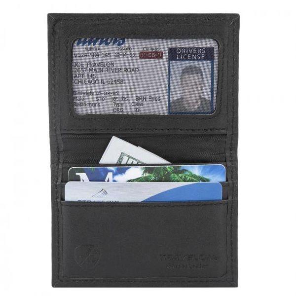 TRAVELON RFID CARD CASE, BLACK (82022)