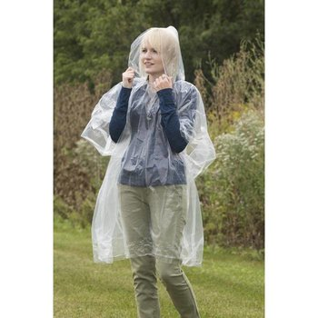 TRAVELON EMERGENCY RAIN PONCHO (12215) CLEAR