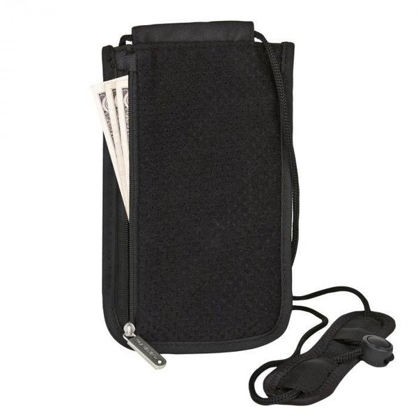TRAVELON RFID DELUXE BOARDING POUCH BLACK (42372)