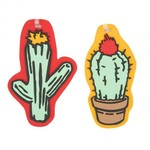 TRAVELON SET OF 2 NOVELTY LUGGAGE TAGS, CACTUS (13292)