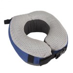 TRAVELON COOLING GEL MEMORY NECK PILLOW COBALT/GRAY  (13364)