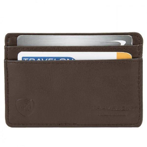 TRAVELON LEATHER RFID BLOCKING CARD SLEEVE (72218/42218)