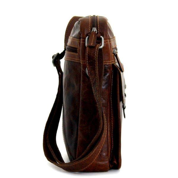 Jack Georges VOYAGER LARGE CROSSBODY BAG, BROWN (7205)