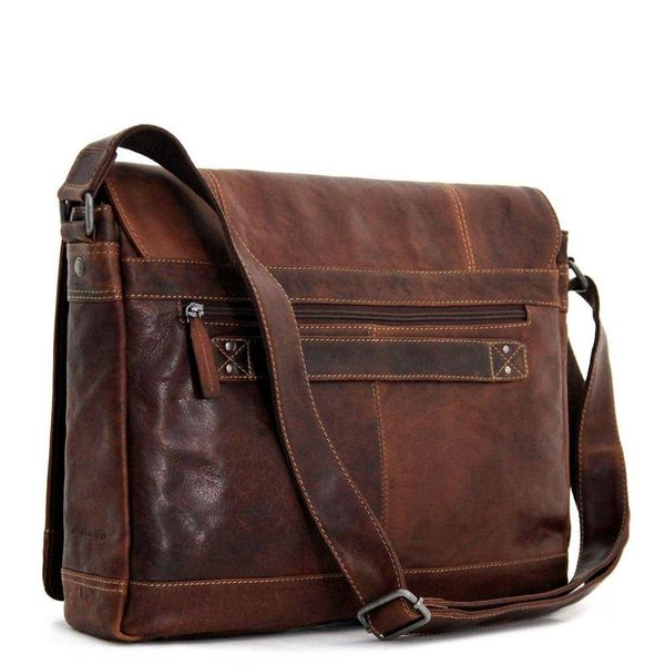 Jack Georges VOYAGER FULL-SIZE MESSENGER BAG, BROWN (7315)