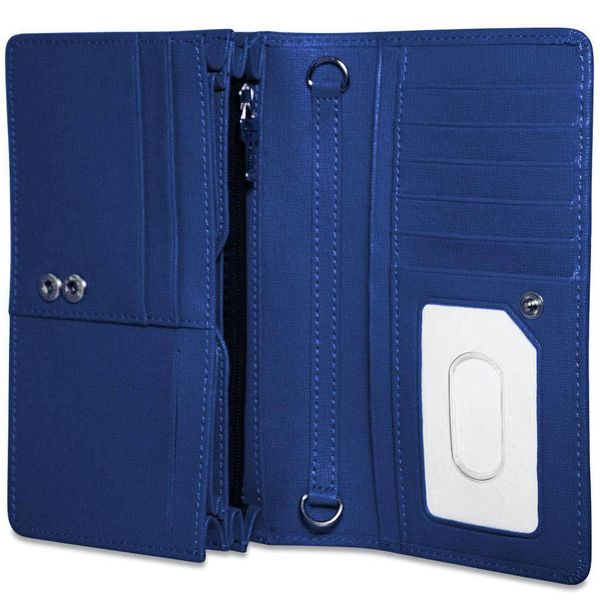 Jack Georges CHELSEA CONTINENTAL WALLET, BLUE (5722)