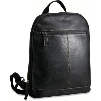 Jack Georges VOYAGER SMALL CONVERTIBLE BACKPACK/CROSSBODY, BLACK (7133)
