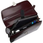 Jack Georges ELEMENTS DOUBLE GUSSET FLAP OVER BRIEFCASE, BURGUNDY (4402)