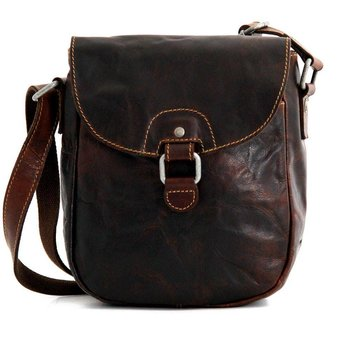 Jack Georges VOYAGER HORSESHOE CROSSBODY BAG, BROWN (7838)