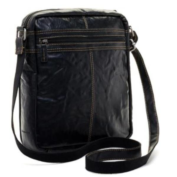 Jack Georges VOYAGER LARGE CROSSBODY BAG, BLACK (7205)