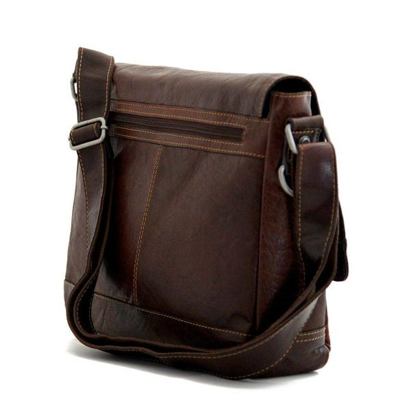 Jack Georges VOYAGER MESSENGER BAG, BROWN (7314)