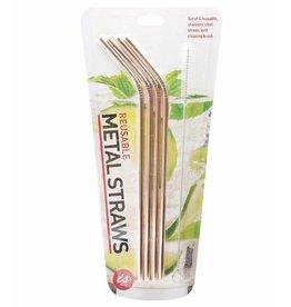 Metallic Metal Drinking Straws