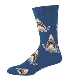 Socks Mens Shark Attack Blue