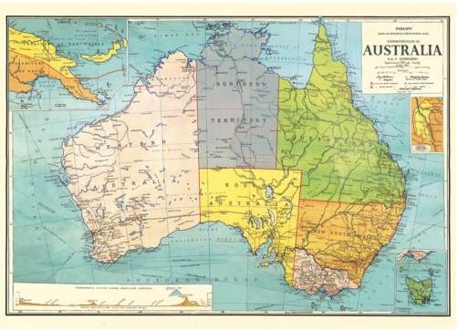 Poster Australia Map 3