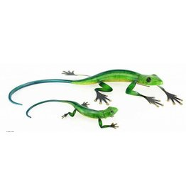 Large Metal Green Lizard