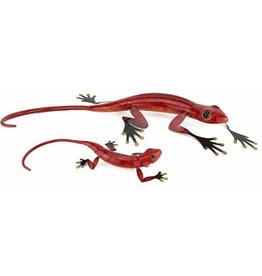 Large Red Metal Lizard