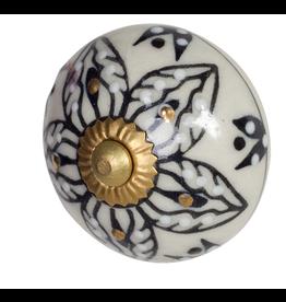 Doorknob Argyle Ceramic