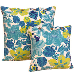 Hibiscus Turq Cushion Cover