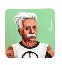 Hipster Albert Coaster