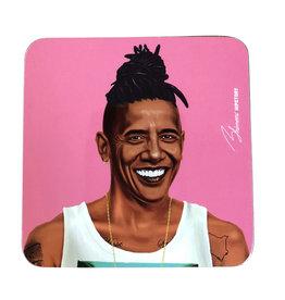Hipster Barack Coaster