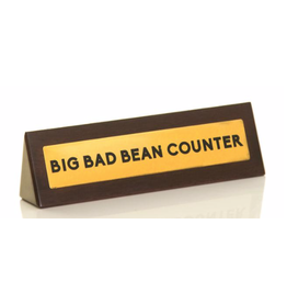 Desk Sign Bean Counter